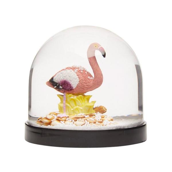 Large klevering flamingo wonderball snow globe