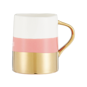 Medium john lewis   partners gold dipped mug  350ml  blush
