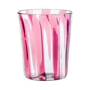 Medium the conrasn shop berlingot amethyst striped wine glass