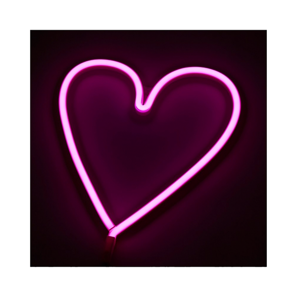 Large the conran shop neon heart light pink