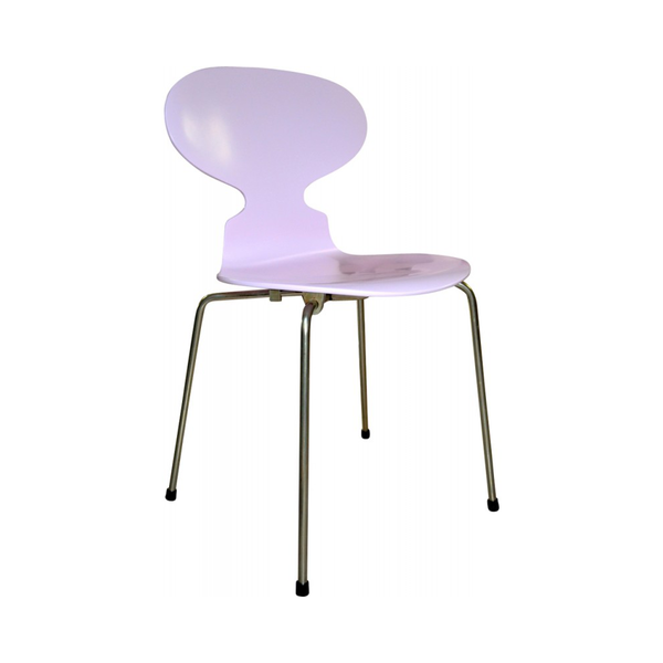 Large pamonoset of 6 pink ant chairs by arne jacobsen for fritz hansen 1970s