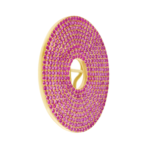 Medium sabine getty pink sapphire circle ear piece
