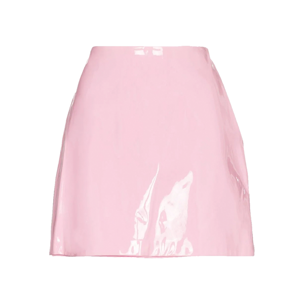 Large staud murray mini patent leather skirt