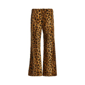Medium philosphy di lorenzo leopard print cotton blend velvet cropped trousers