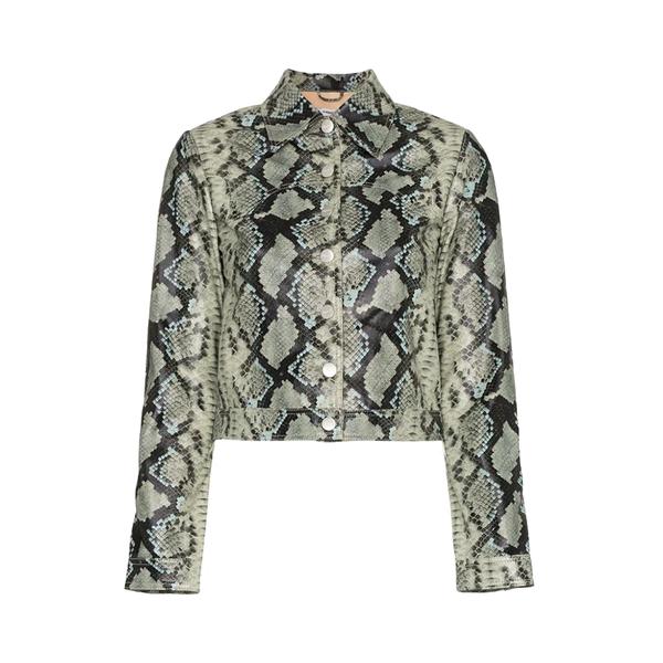Large miaou lex snake print cropped jacket