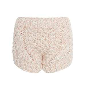 Medium i love mr mittens arled cable knit wool shorts