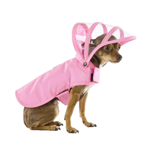 Medium push pushi pink dog raincoat