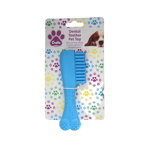 Medium crufts dental teether tooth brush dog pet toy to maintain healthy teeth