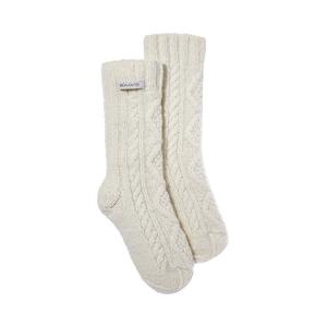 Medium  daughter brea hand knit aran socks