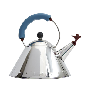 Medium need supply alessi 9093 stainless steel kettle in bluered