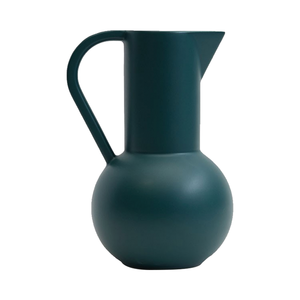 Medium raawii large ceramic jug in green