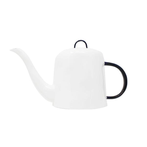 Large feldspar cobalt teapot