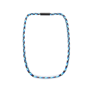 Medium vowel octa 7 braided tube necklace