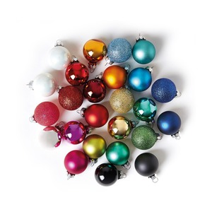 Medium the conran shop multicoloured mini baubles set of 25