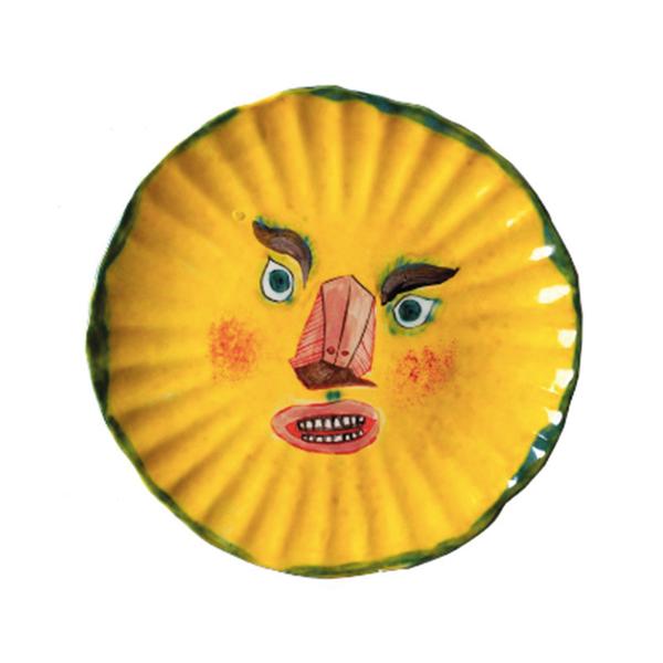 Large yellow sun face plate claudiia rankin