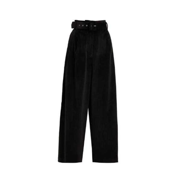 Large isa arfen velvet trousers with belt