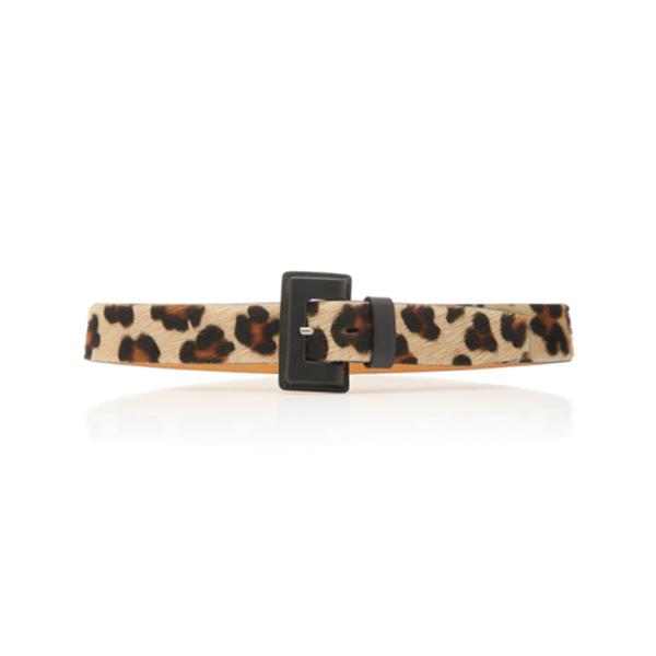 Large maison vaincourt leopard print calf hair belt