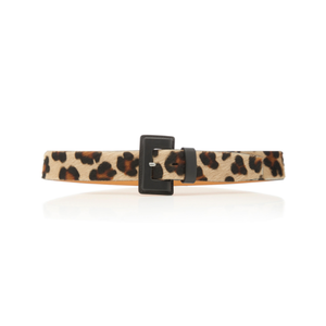 Medium maison vaincourt leopard print calf hair belt
