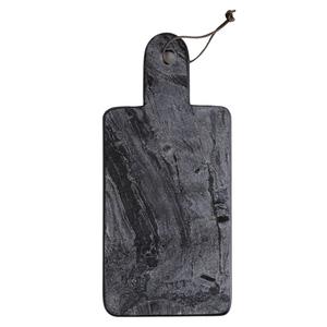 Medium darkroom black marble tray