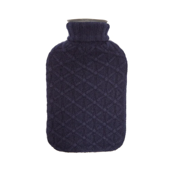 Large allude lattice knit cashmere cover hot water bottle