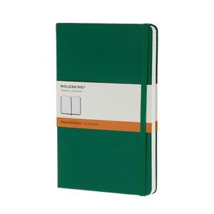 Medium moleskin large green notebook