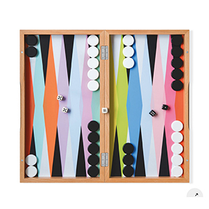 Medium moma store colorful backgammon set