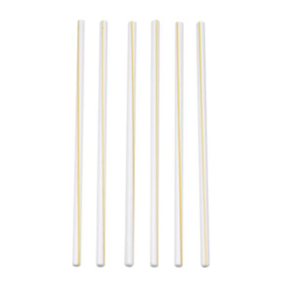 Large terasso set of six two tone glass straws