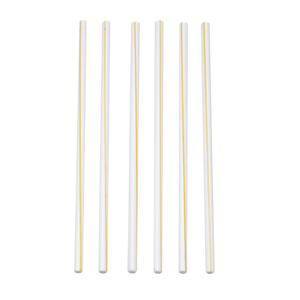Medium terasso set of six two tone glass straws
