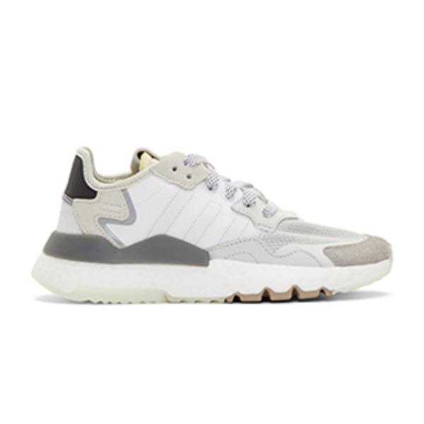 Large adidas white   black nite jogger sneakers
