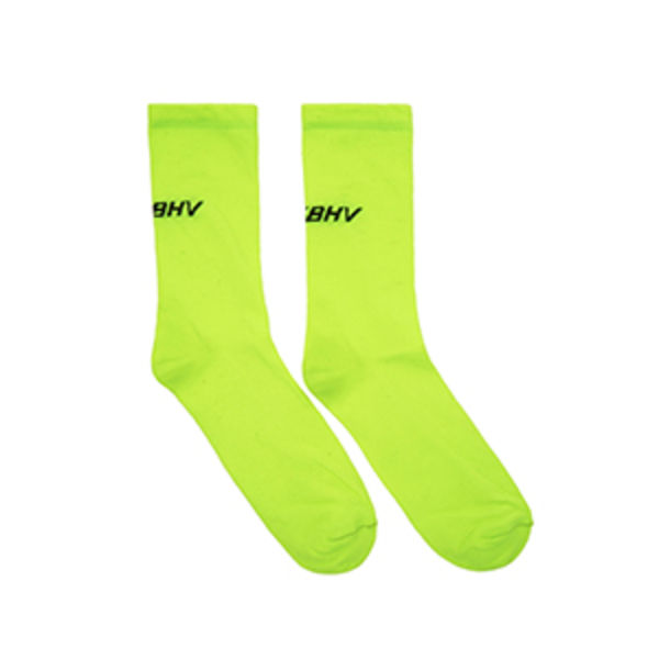 Large misbhvyellow logo socks
