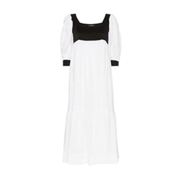 Large mnz blouson sleeve empire dress