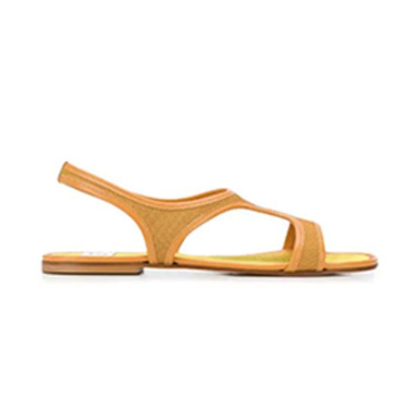 85a615c8102 Maryam Nassir Zadeh - Yellow Corazon Sandals - Semaine