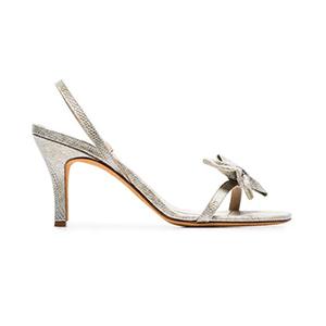 Medium mnz metallic flora 85 snakeskin bow slingback sandals
