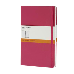 Medium moleskin ruled notebook pink