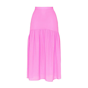 Medium mnz silk high waisted tiered skirt