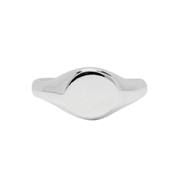 Large sophie buhai silver small signet ring
