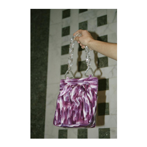 Medium maryam nassir zadehglow purse patent  violet leopard