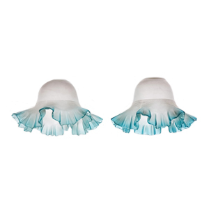 Medium ceraudo pair of flower form glass lampshades