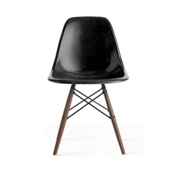 Large design within reach eames  molded fiberglass dowel leg side chair  dfsw