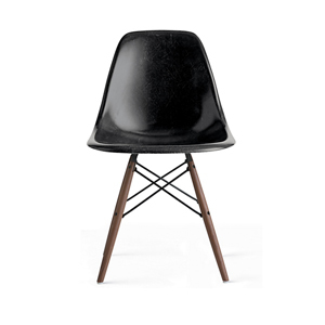 Medium design within reach eames  molded fiberglass dowel leg side chair  dfsw