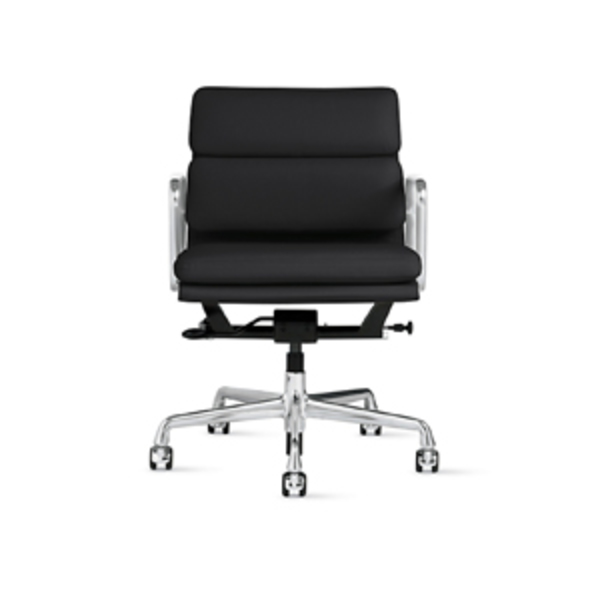 Large design within reach eames  soft pad management chair with pneumatic lift
