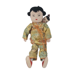Medium vintage chinese mother and baby doll believed bought in china in the 1970s