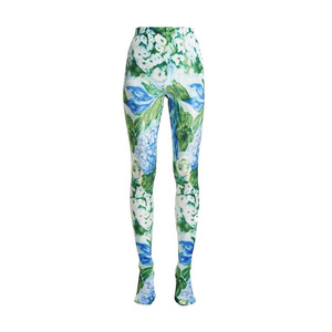 Medium richard quinnfloral print stretch velvet leggings