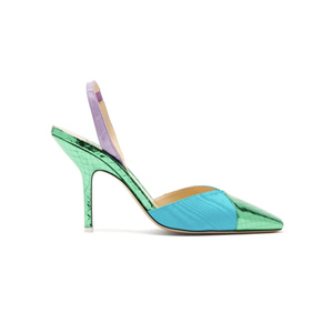 Medium the attico mara python and moire%cc%81 pumps