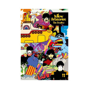 Medium yellow submarine poster amazon