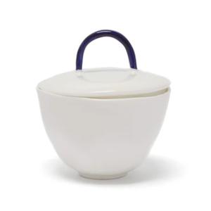 Medium feldspar painted handle fine china sugar bowl