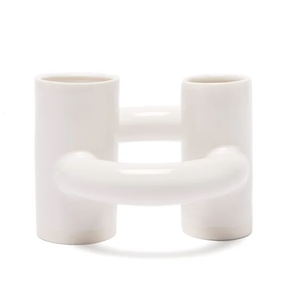 Medium lili perlman dancing doughnut porcelain vase