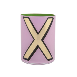Medium pentreath and hall alphabet brush pot   x