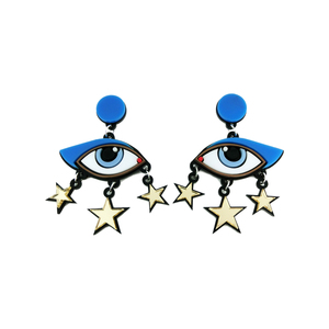 Medium valerydemure yazbukey bette david eye earrings