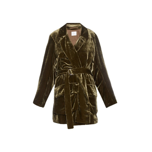 Medium hillier bartleymilitary belted velvet jacket